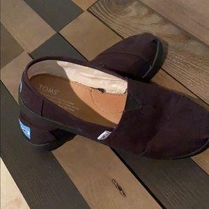 TOMS black loafers
